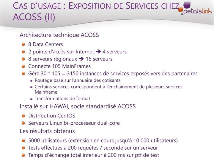 Cas d'usage : Exposition de Services chez ACOSS (II)