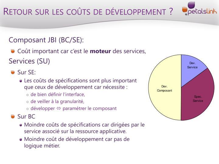 Retour sur les coûts de développement ?