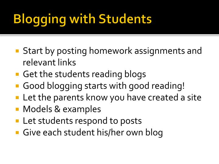 Blogging with Students