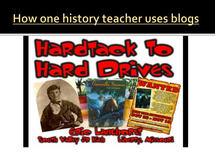 How one history teacher uses blogs