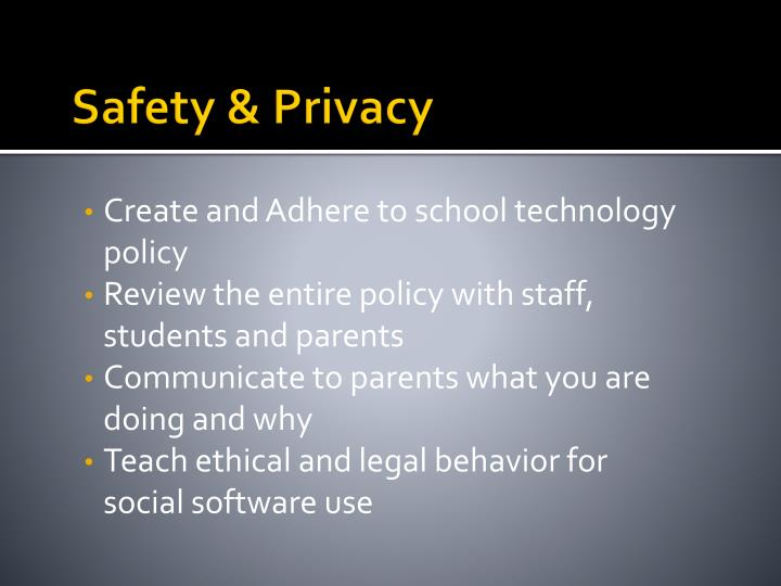 Safety & Privacy