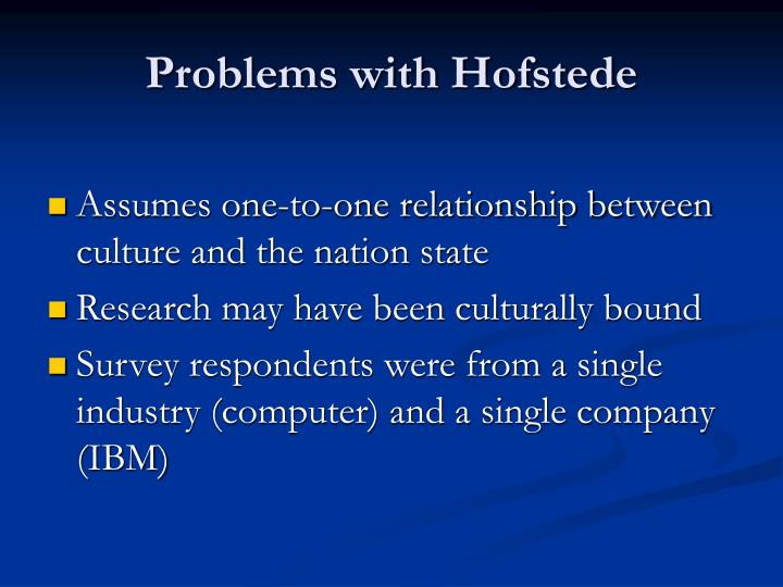 Problems with Hofstede