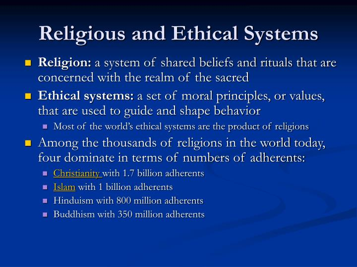 Religious and Ethical Systems