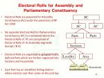 electoral rolls for assembly and parliamentary constituency