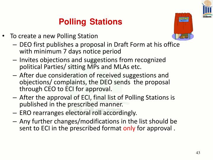 To create a new Polling Station