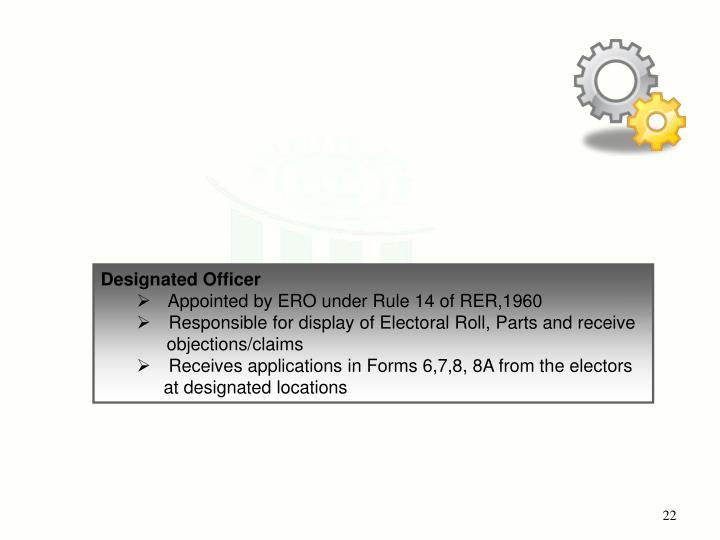 Designated Officer