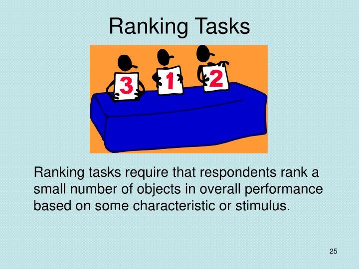 Ranking Tasks