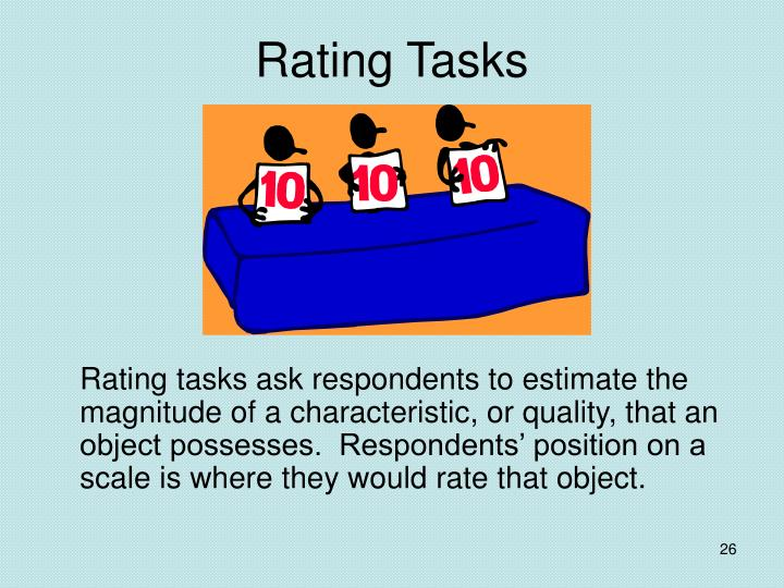 Rating Tasks