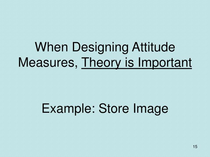 When Designing Attitude Measures,