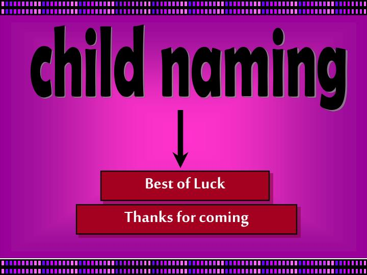 child naming