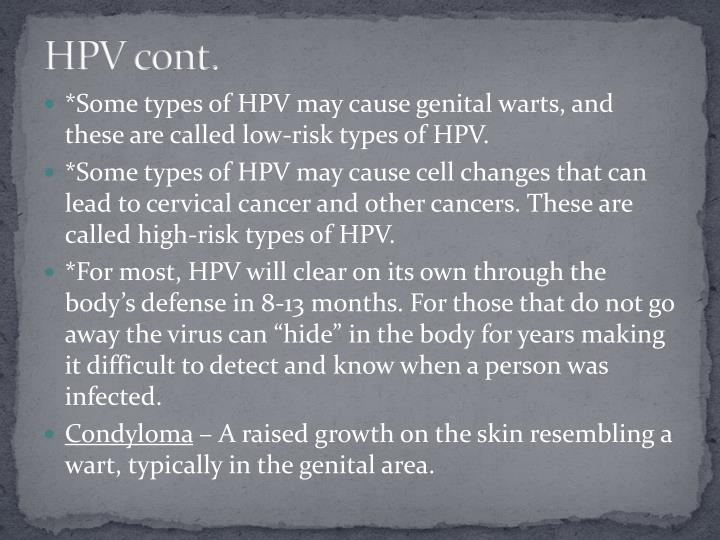 HPV cont.