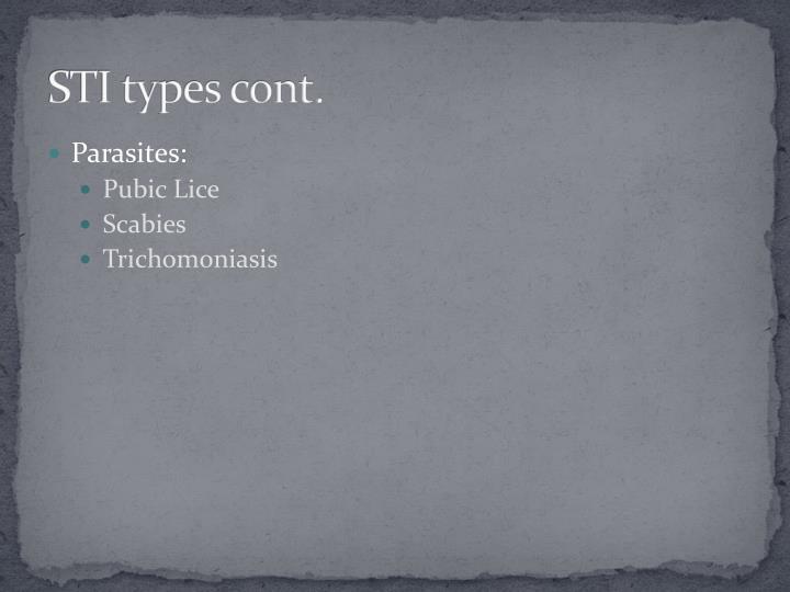 STI types cont.
