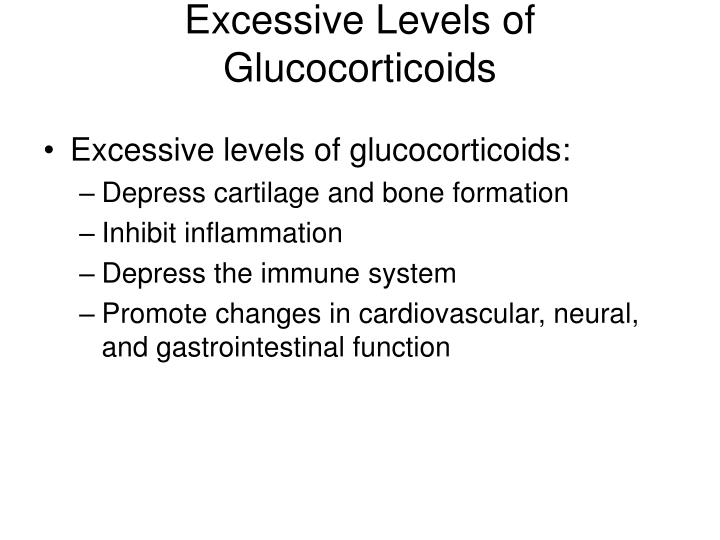 Excessive Levels of Glucocorticoids