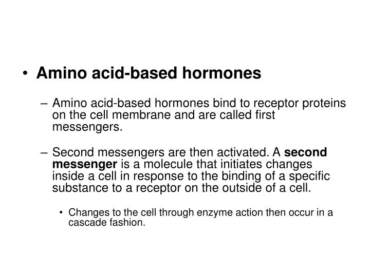 Amino acid-based hormones
