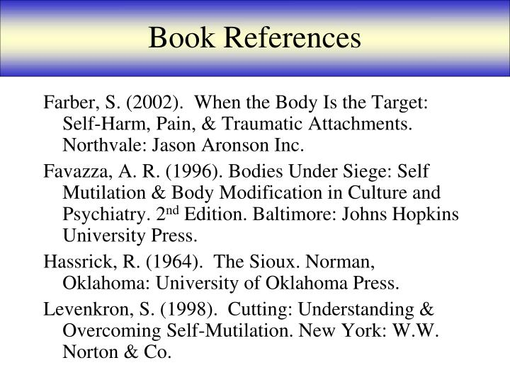 Book References