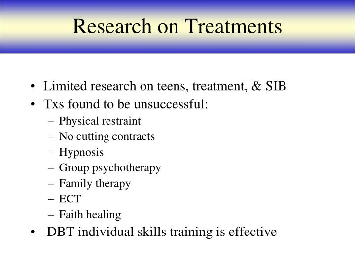 Research on Treatments