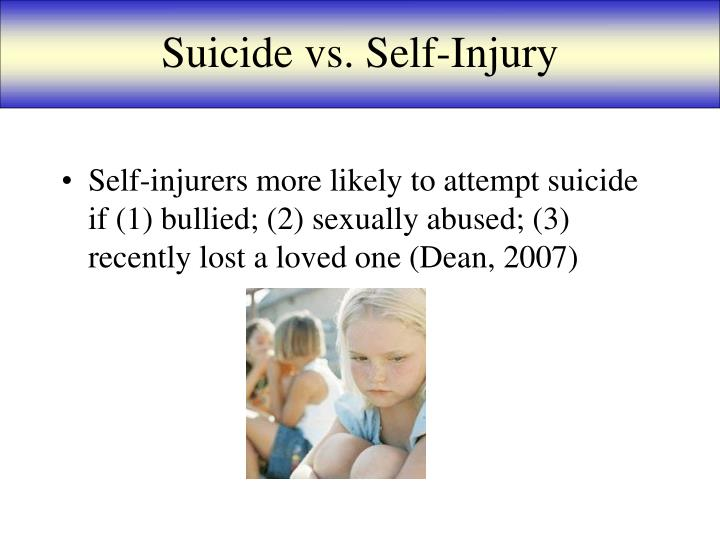 Suicide vs. Self-Injury