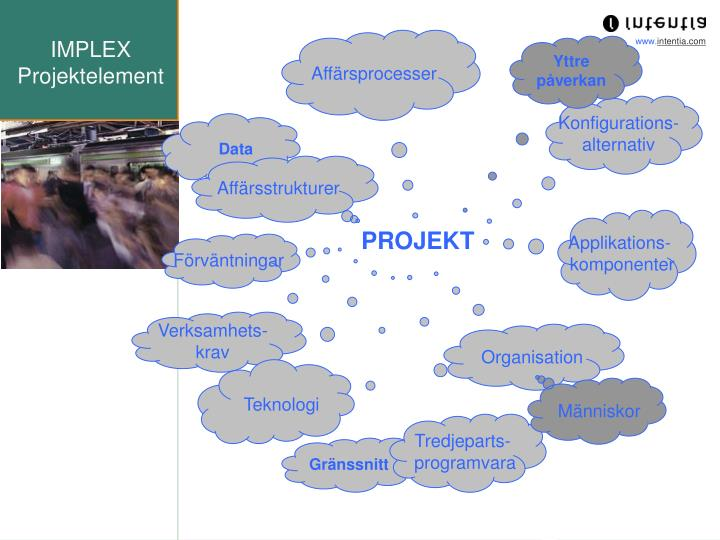 Implex projektelement