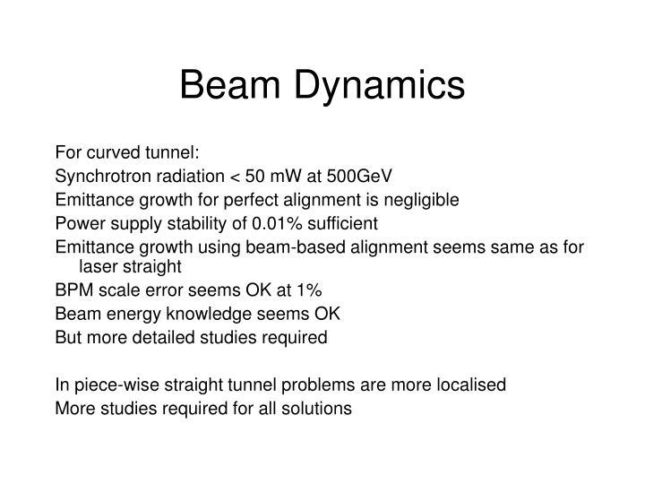 Beam Dynamics