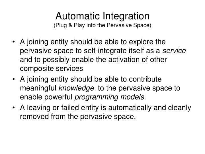 Automatic Integration