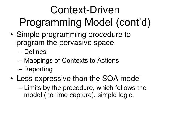 Context-Driven