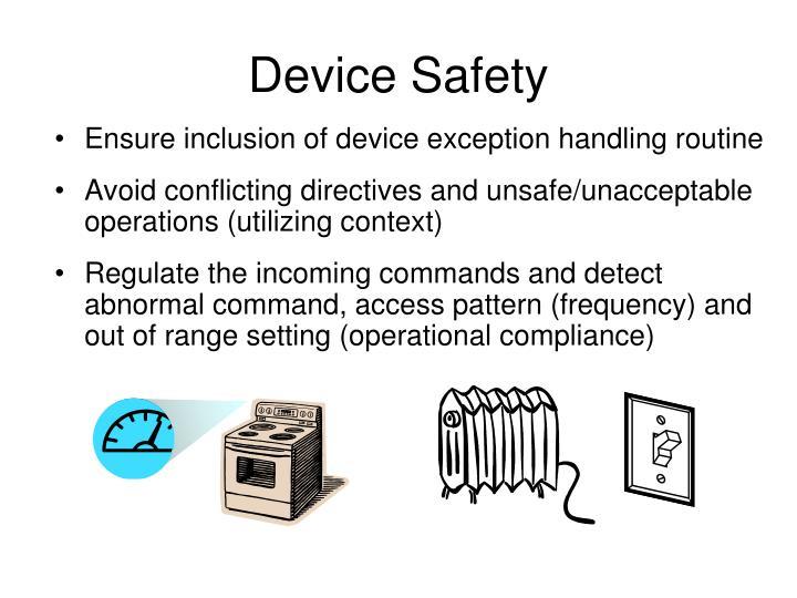 Device Safety
