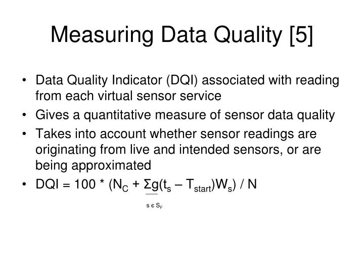 Measuring Data Quality [5]