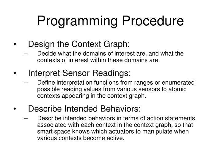 Programming Procedure
