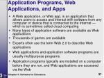 application programs web applications and apps