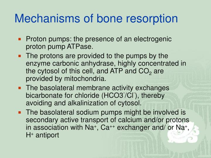 Mechanisms of bone resorption