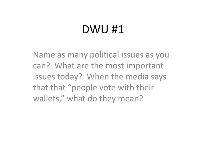 DWU #1