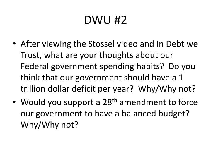 DWU #2
