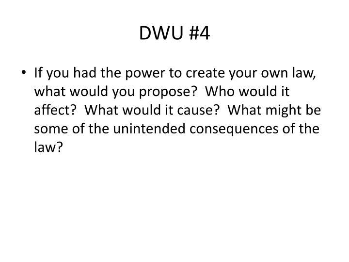 DWU #4