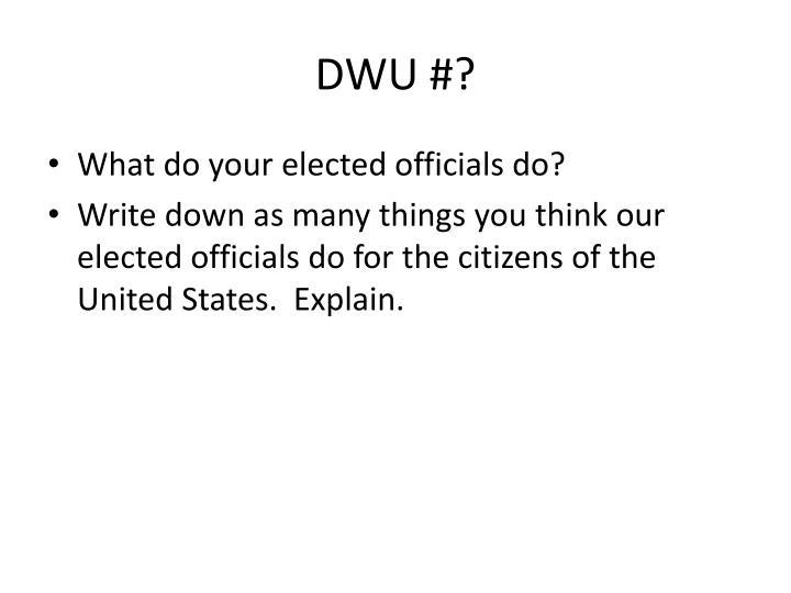 DWU #?