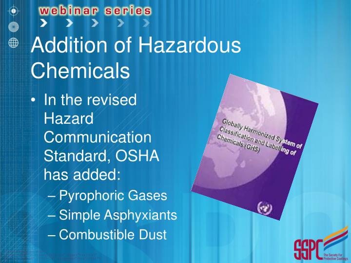 Addition of Hazardous Chemicals