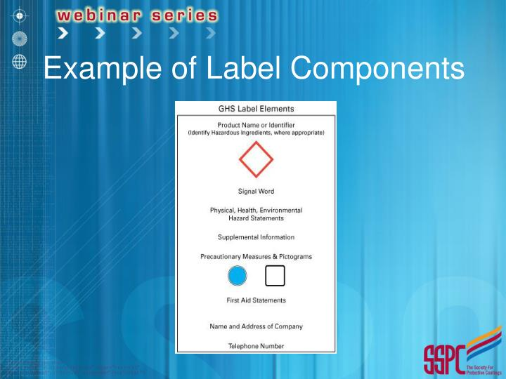 Example of Label Components