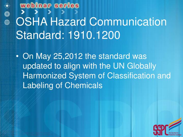 OSHA Hazard Communication Standard: 1910.1200