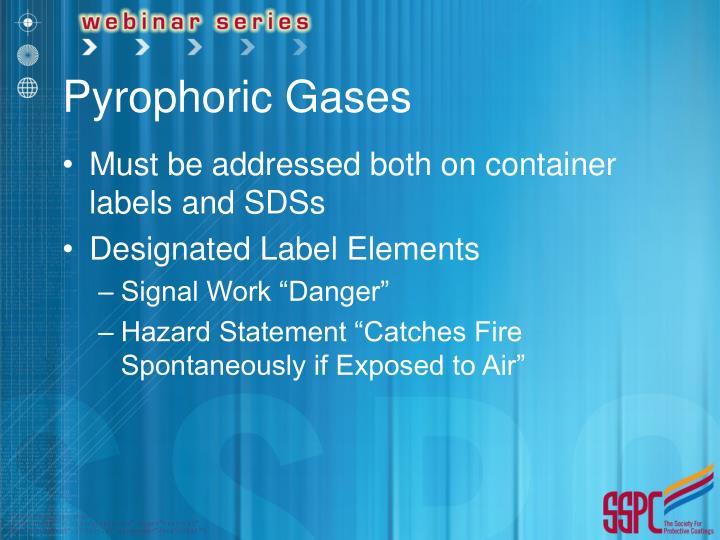 Pyrophoric Gases