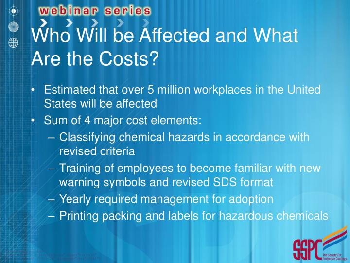 Who Will be Affected and What Are the Costs?