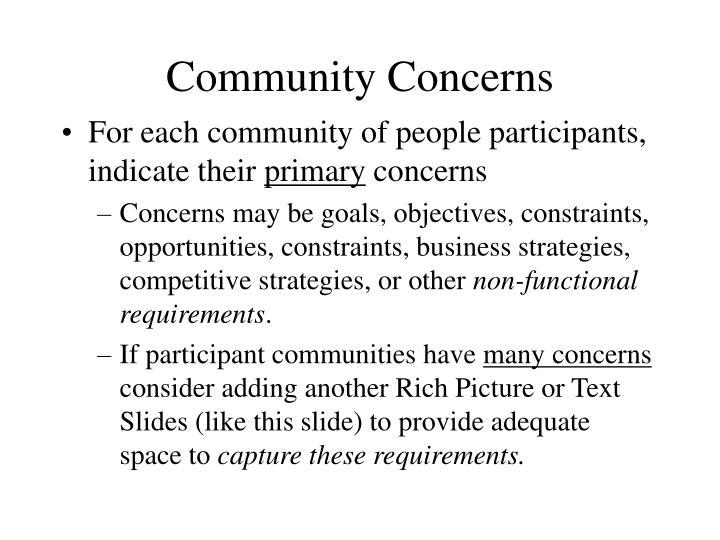 Community Concerns