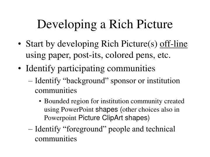 Developing a Rich Picture