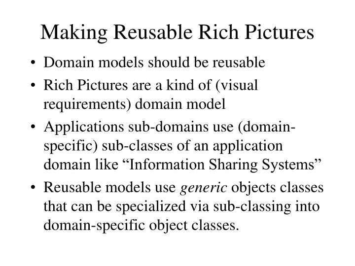 Making Reusable Rich Pictures