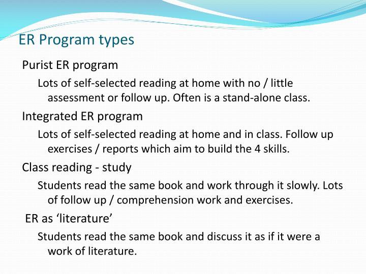 ER Program types