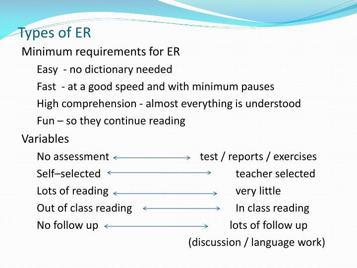 Types of ER