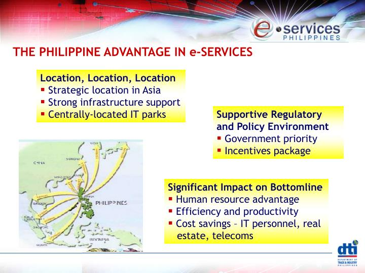 THE PHILIPPINE ADVANTAGE IN e-SERVICES