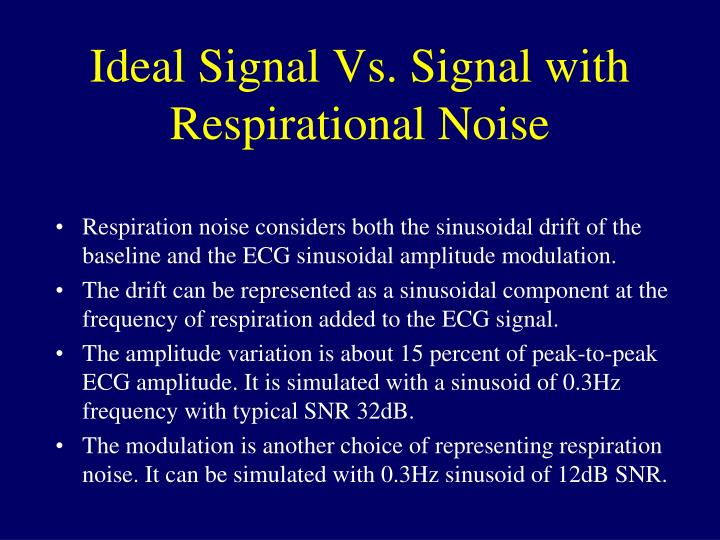 Ideal Signal Vs. Signal with Respirational Noise