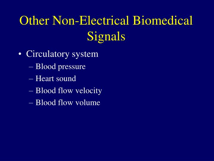Other Non-Electrical Biomedical Signals