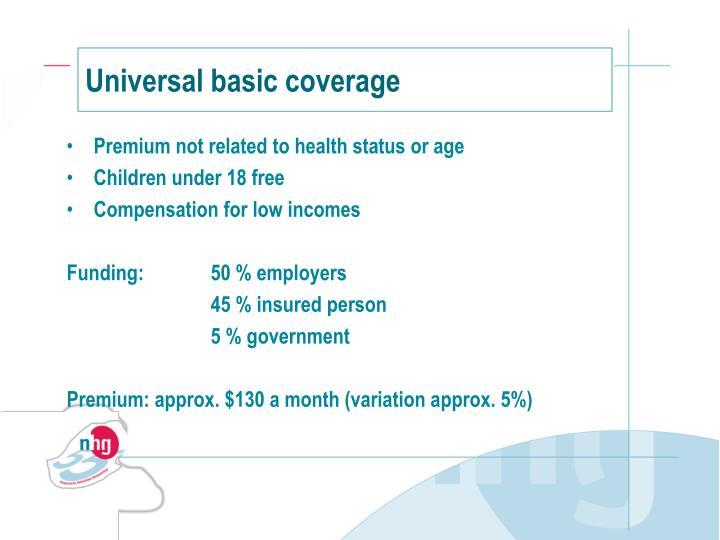 Universal basic coverage