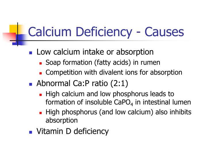 Calcium Deficiency - Causes