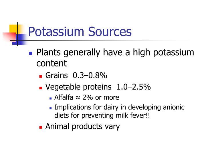 Potassium Sources